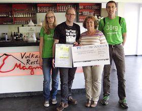 Spendenübergabe - M. Schubath - TorTour de Ruhr