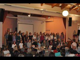 Der Chor der Grebenhainer Oberwaldschule überzeugte mit tollen Liedern.