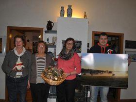 Sie haben viele Ideen für die Kinderhilfe, über die sich Vorsitzende Doris Frank (Zweite von links) freut: Elfriede Zinn, Margit Schlotthauer und Matthias Kipper (von links). Foto: Vonderheid