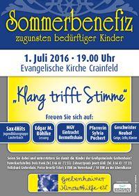 Sommerbenefiz 2016 - Plakat